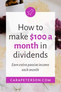 How to make $100 a month in dividends. Earn extra passive income each month