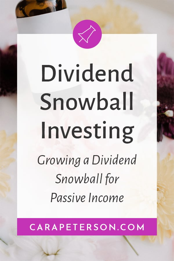 Dividend Snowball Investing: Growing a dividend snowball for passive income