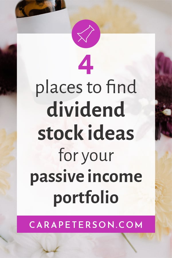 4 places to find dividend stock ideas for your passive income portfolio
