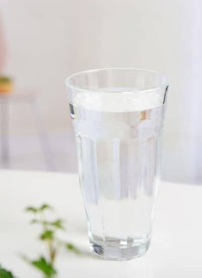 Glass of water when consider if drinking cold water vs room temperature better