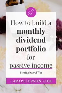 How to build a monthly dividend portfolio for passive income