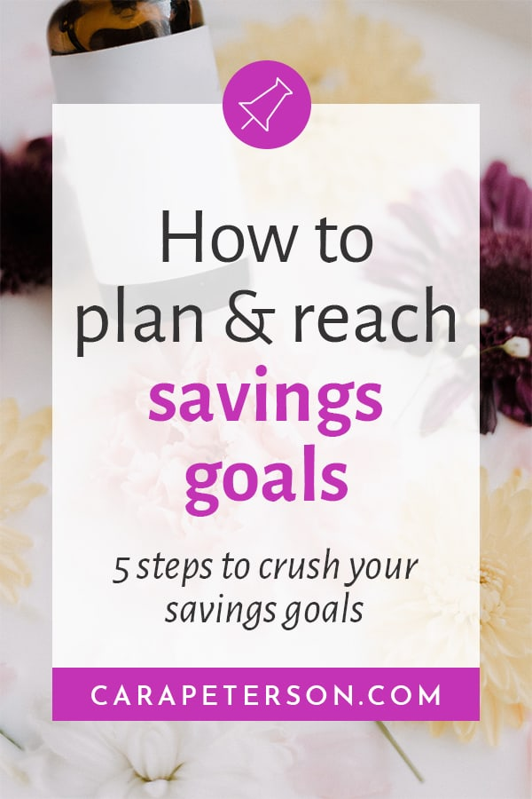 How to plan and reach savings goals. 5 steps to crush your savings goals