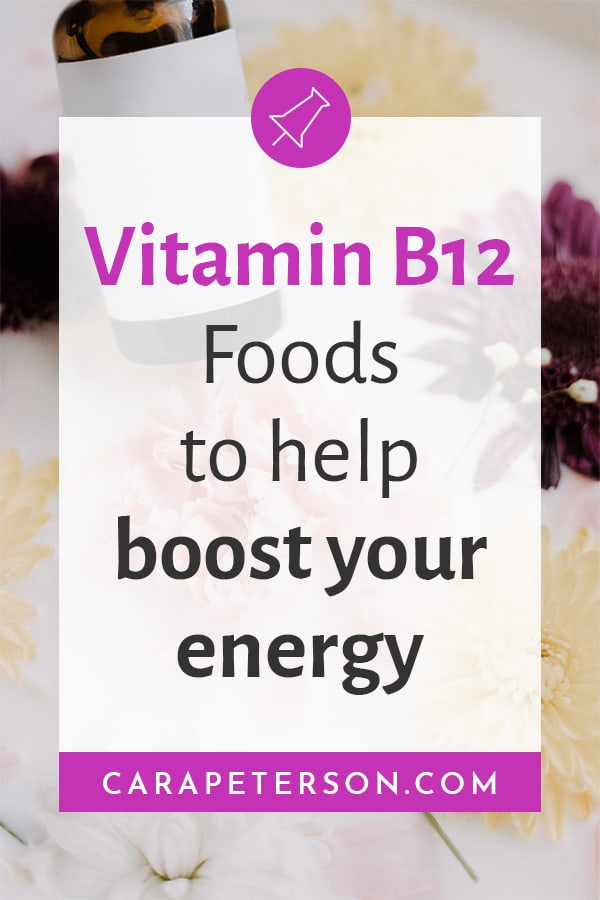 Vitamin B12 Foods to help boost your energy