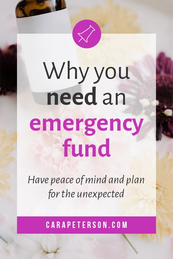 Why you need an emergency fund: Have peace of mind and plan for the unexpected