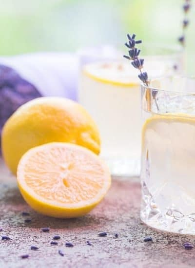 Two glasses of lemonade while changing your mindset to stay positive when money is tight