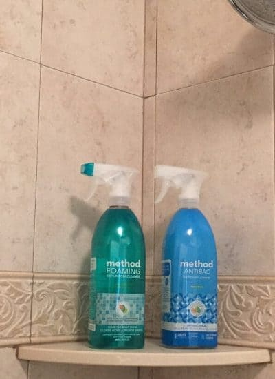 Two Method Bathroom cleaning products in a bathroom determine if Method Bathroom Cleaner Work