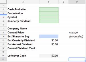 Stock Purchase Calculator