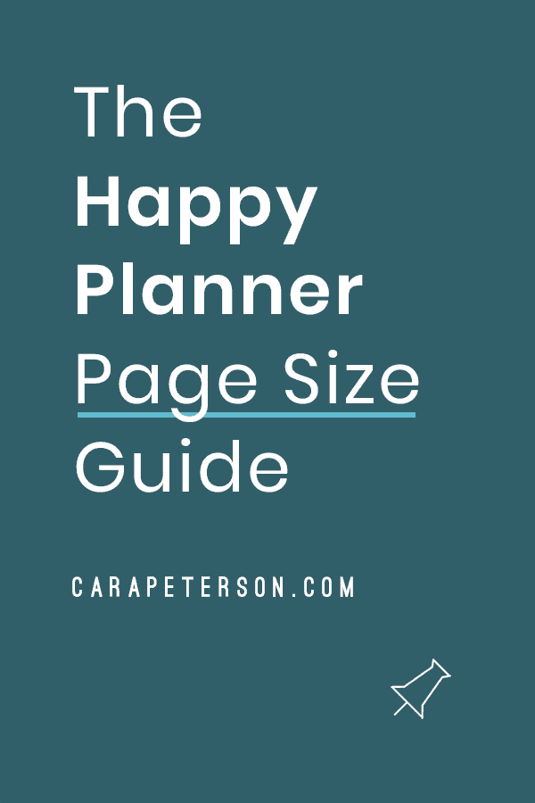 The Happy Planner Page Size Guide