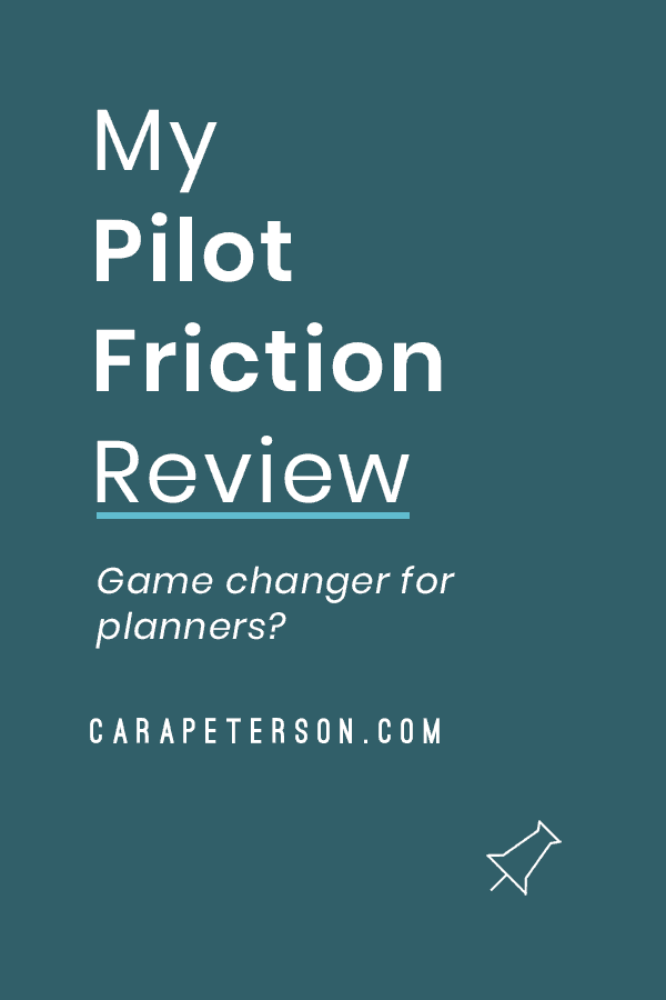 My Pilot Friction Review: Game changer for planners?
