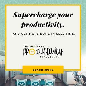 Supercharge your productivity. And get more done in less time. The Ultimate Productivity Bundle 2020