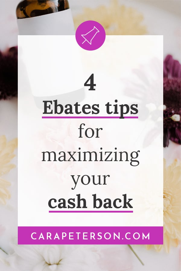 4 Ebates tips to maximize your cash back