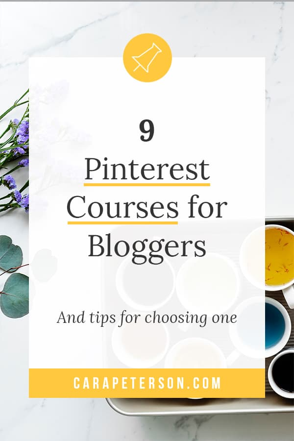 9 Pinterest Courses for Bloggers and tips for choosing one