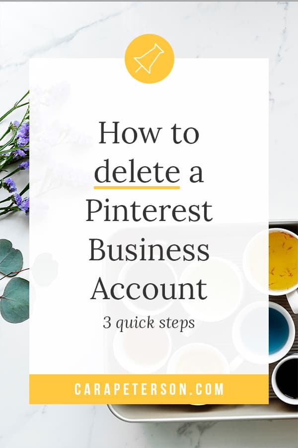How to delete a Pinterest Business Account