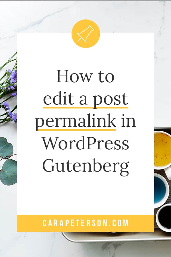 How to edit a post permalink in Gutenberg