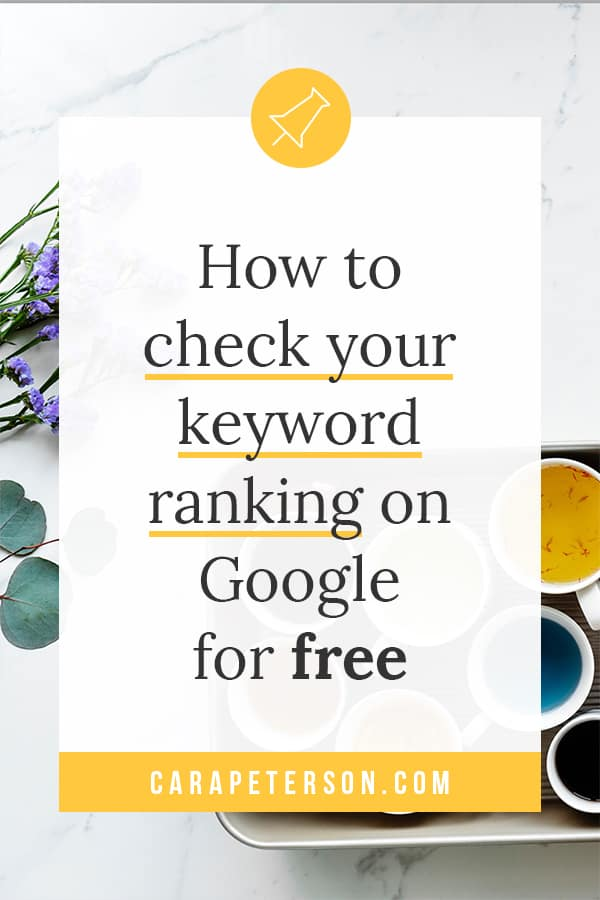How to check your keyword ranking on Google for free