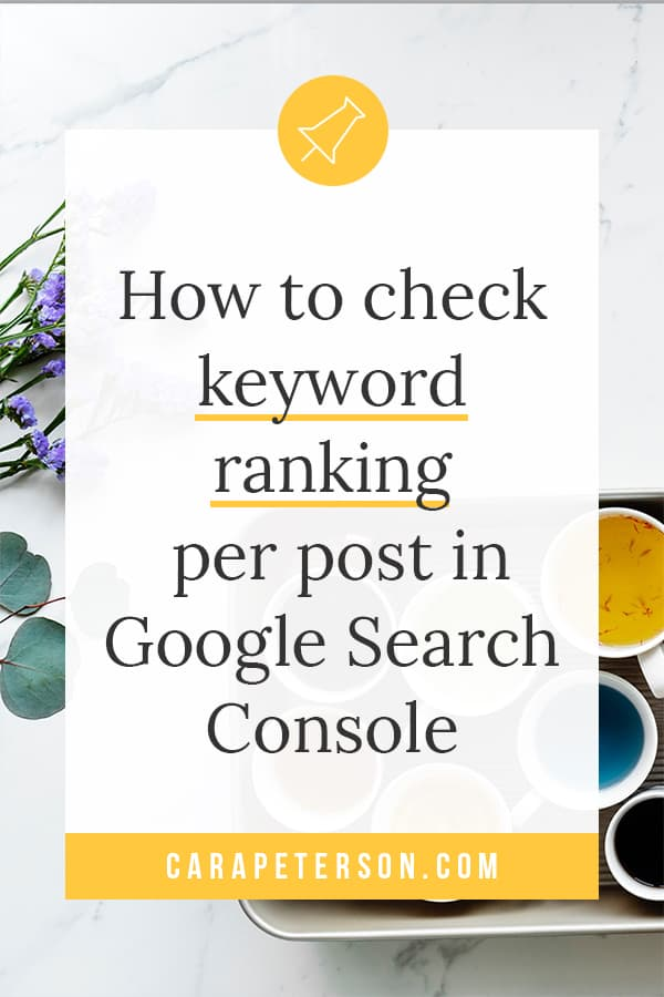 How to check keyword ranking per post in Google Search Console