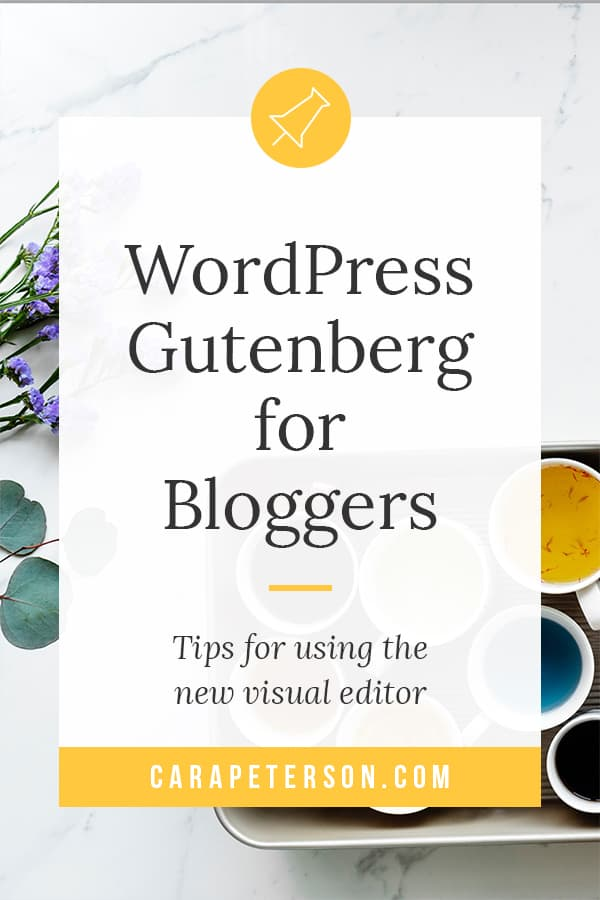 WordPress Gutenberg is a big change for bloggers. Here's a set of tips to help reduce the frustration.