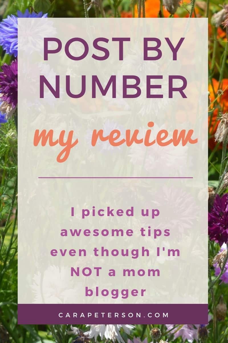 Post By Number Course Review by a non-mom blogger