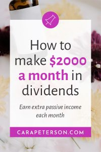 How to make $2000 a month in dividends: earn extra passive income each month